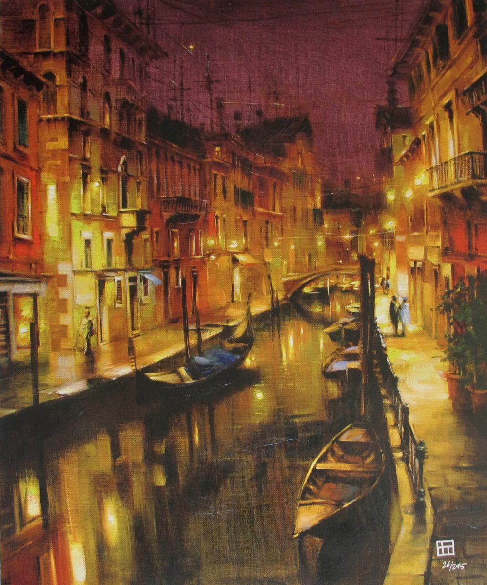 VAKHTANG Glow in the Nighttime Hand Signed Limited Edition Giclee on Canvas