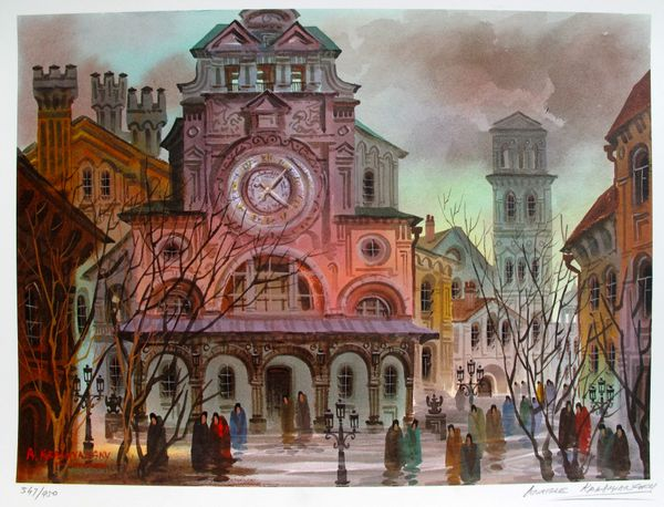 Anatole Krasnyansky VENICE IN AUTUMN Hand Signed Limited Edition Lithograph