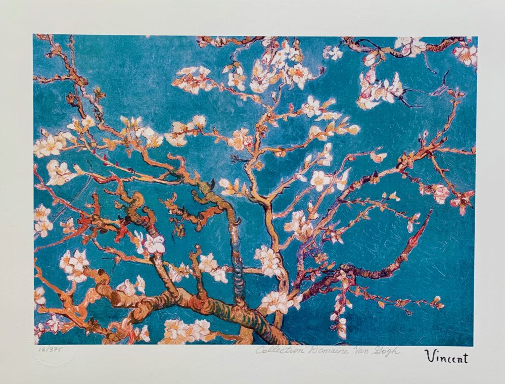 Vincent Van Gogh BLUE ALMOND BLOSSOMS Estate Signed Limited Edition Small Giclee