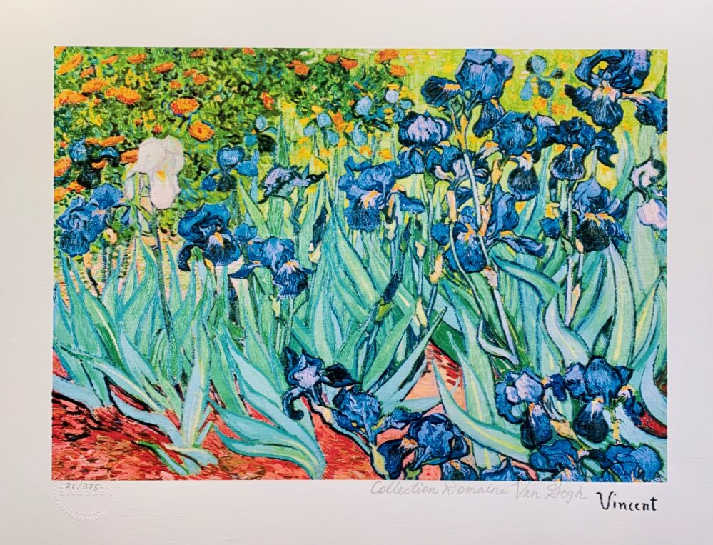 """Vincent Van Gogh IRISES Estate Signed Limited Edition Giclee 13"""" x 17"""""""