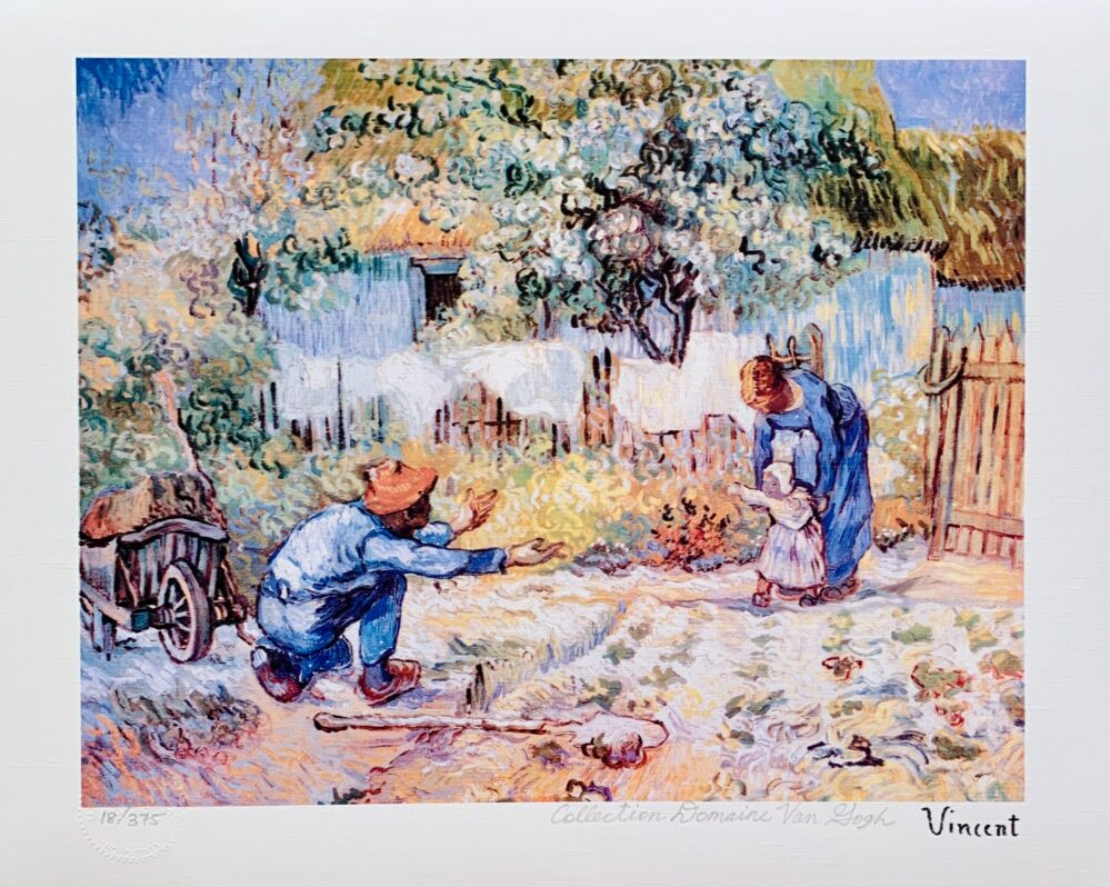 """Vincent Van Gogh FIRST STEPS Estate Signed Limited Edition Giclee 13"""" x 17"""""""