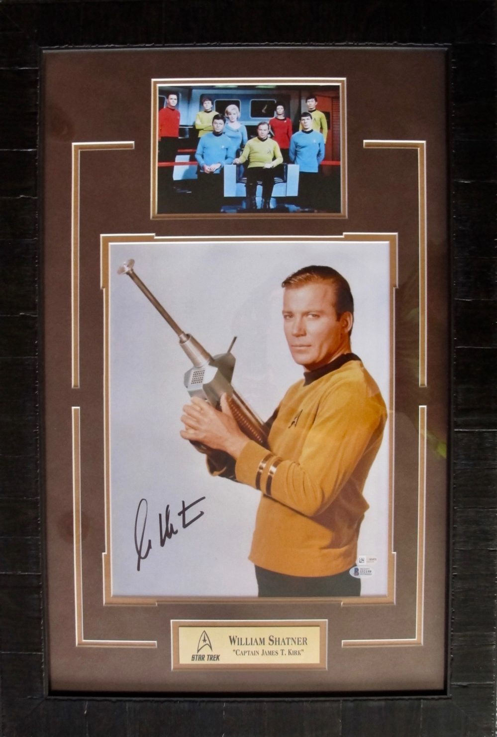 WILLIAM SHATNER Large Signed Framed Autographed Picture STAR TREK with Beckett COA