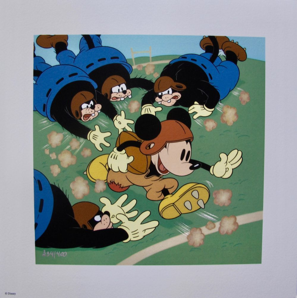 Walt Disney MICKEY MOUSE How to Play Football Animation Art Limited Edition Giclee