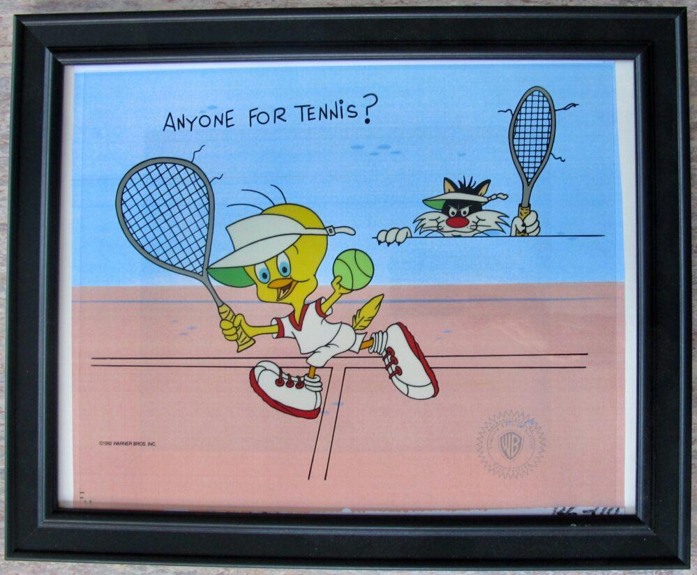 Warner Bros Sylvester & Tweety Bird Anyone for Tennis Sericel