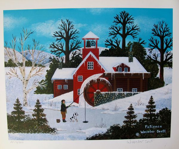 Jane Wooster Scott PATIENCE Hand Signed Limited Ed. Lithograph