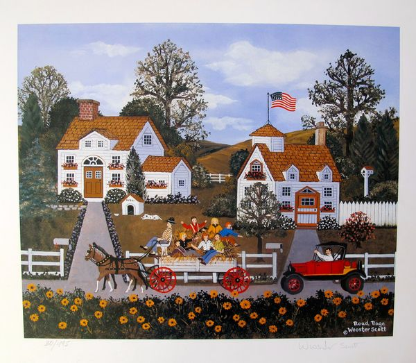 Jane Wooster Scott ROAD RAGE Hand Signed Limited Ed. Lithograph