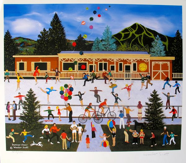 Jane Wooster Scott SUMMER CHEER Hand Signed Limited Ed. Lithograph