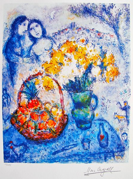 Marc Chagall YELLOW BOUQUET Limited Edition Facsimile Signed Small Giclee