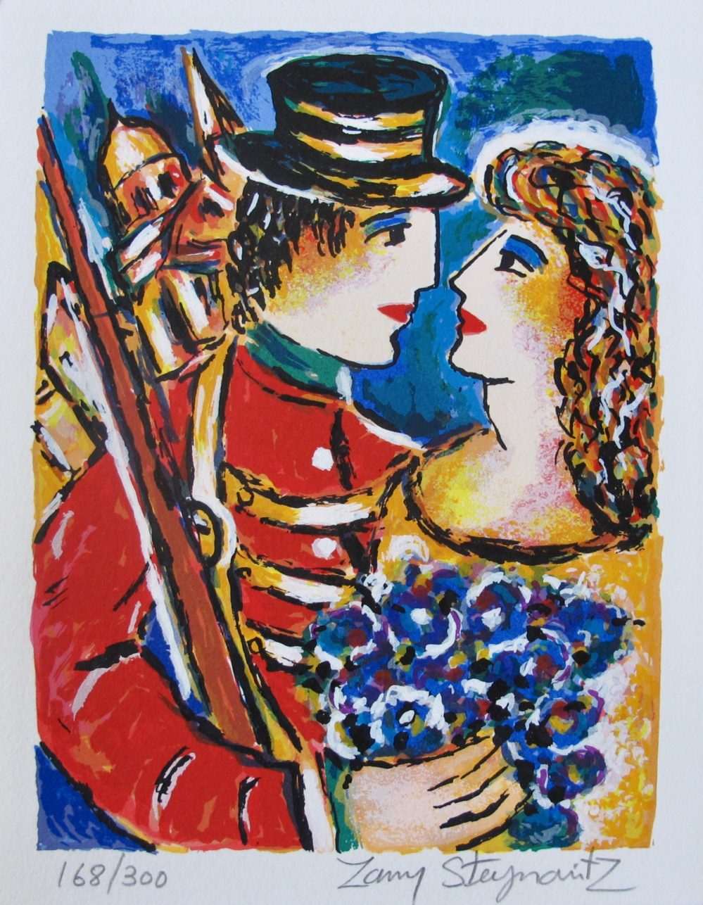 Zamy Steynovitz LOVERS BOUQUET Hand Signed Lithograph