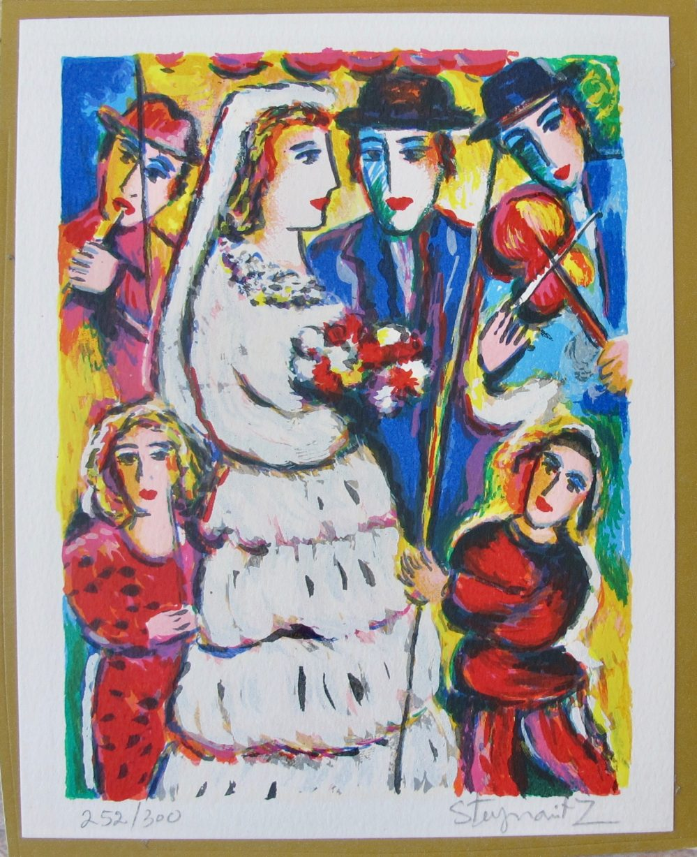"ZAMY STEYNOVITZ ""WEDDING SERENADE"" Hand Signed Limited Edition Lithograph"