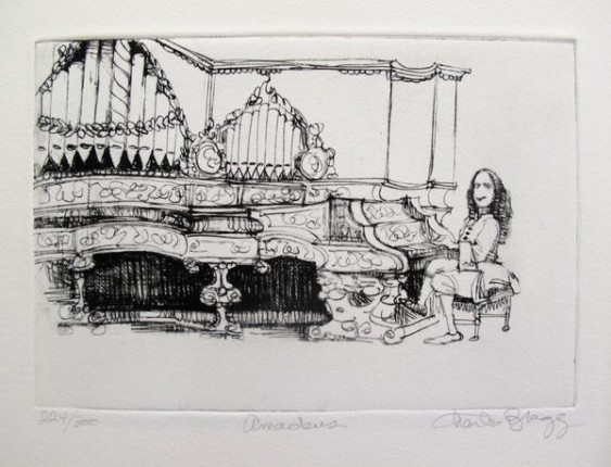 Charles Bragg AMADEUS Hand Signed Limited Edition Etching