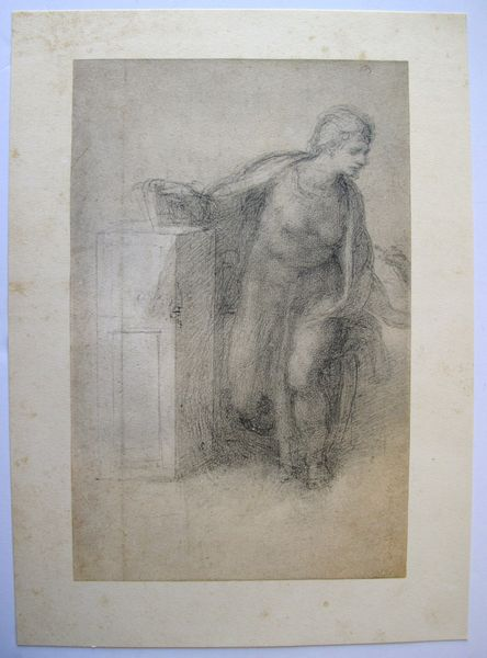 "MICHELANGELO 1970 Lithograph ""STUDY FOR AN ANNUNCIATION"""