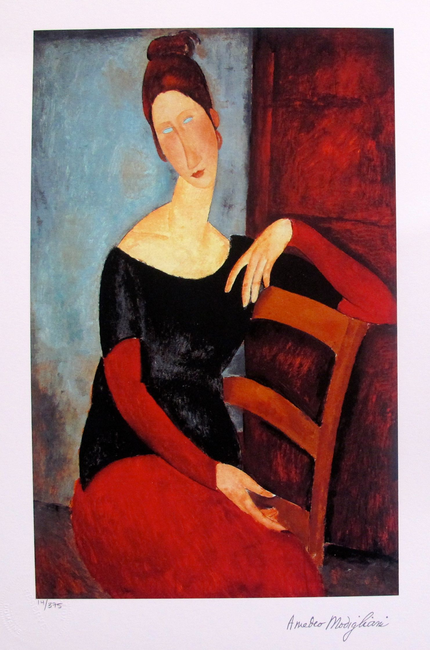 Amedeo Modigliani THE ARTIST'S WIFE 1918 Limited Edition Small Giclee