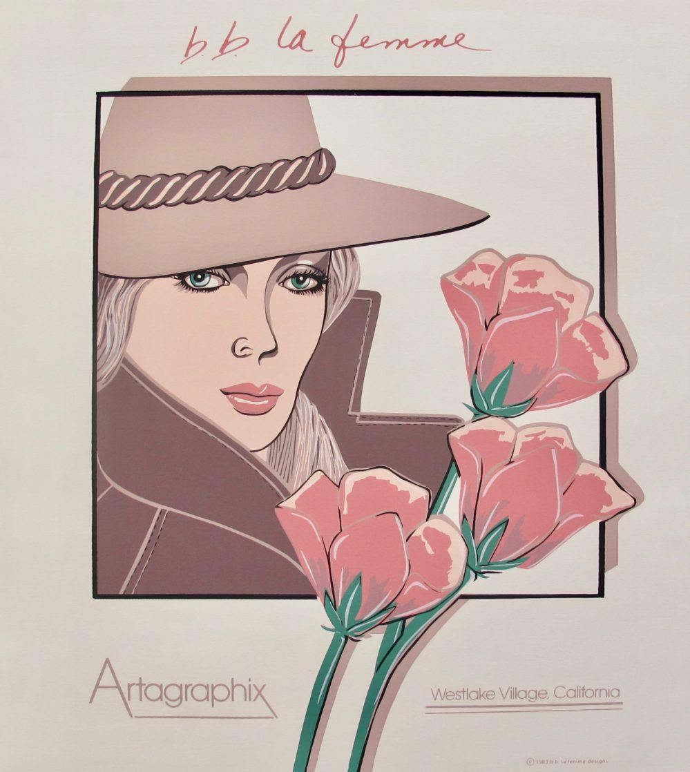 B.B. La Femme SLICK 1983 Serigraph