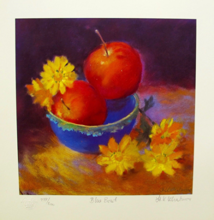 """NEL WHATMORE """"BLUE BOWL"""" Hand Signed Limited Edition Lithograph"""
