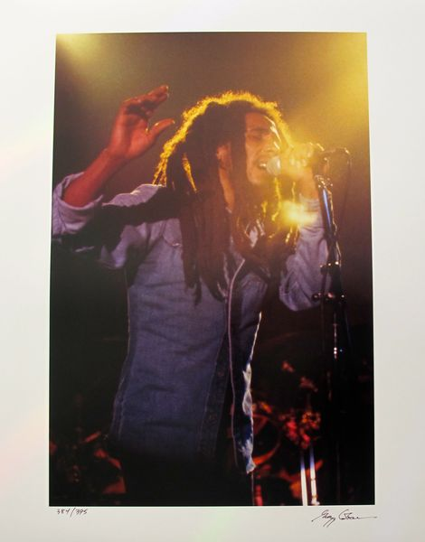 BOB MARLEY Hand Signed Limited Edition Photograph by GREGG COBARR