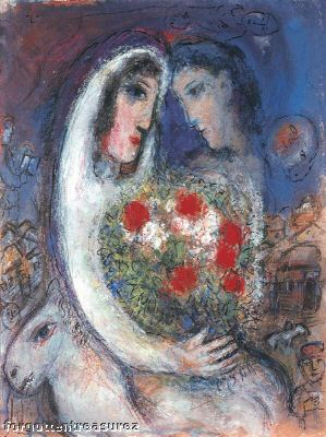 Marc Chagall MARRIAGE Limited Edition Facsimile Signed Giclee