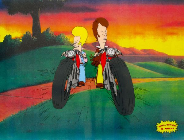 BEAVIS AND BUTTHEAD MOTORCYCLE GANG Animation Art Sericel