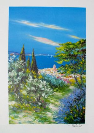 Marcel Belvisi ST. TROPEZ Limited Ed. Hand Signed Lithograph