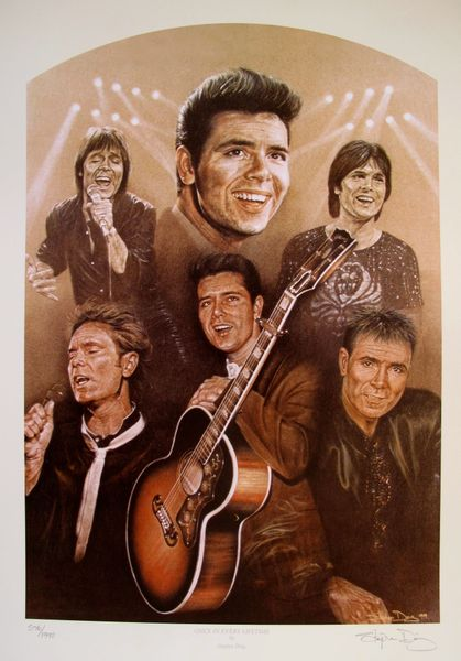 Stephen Doig Cliff Richard ONCE IN EVERY LIFETIME Hand Signed Limited Ed. Lithograph
