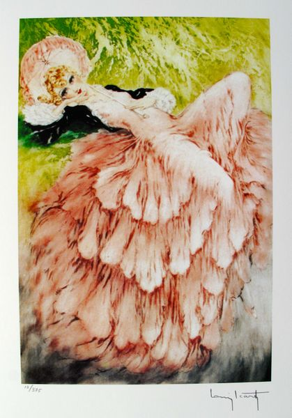 Louis Icart DREAMING Facsimile Signed Limited Edition Giclee Small