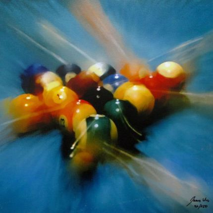 James Wing 8 BALL Hand Signed Limited Ed. Giclee on Canvas