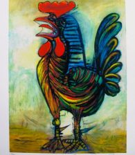 Pablo Picasso THE ROOSTER Estate Signed Limited Edition Small Giclee