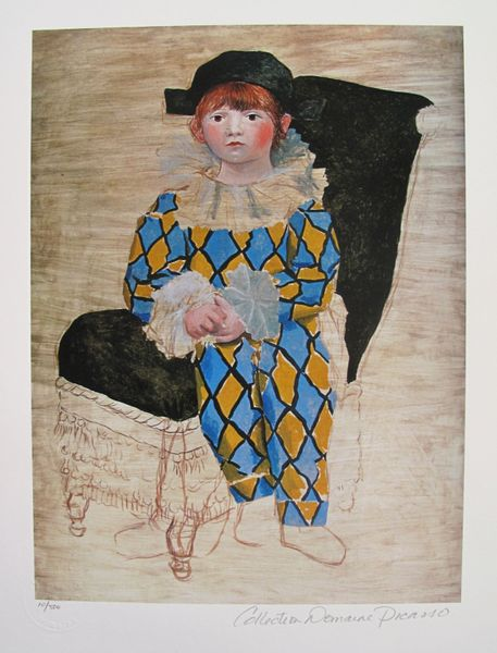 Pablo Picasso PAUL AS A HARLEQUIN Estate Signed Limited Edition Small Giclee