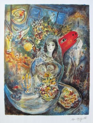 Marc Chagall BELLA Limited Edition Facsimile Signed Lithograph