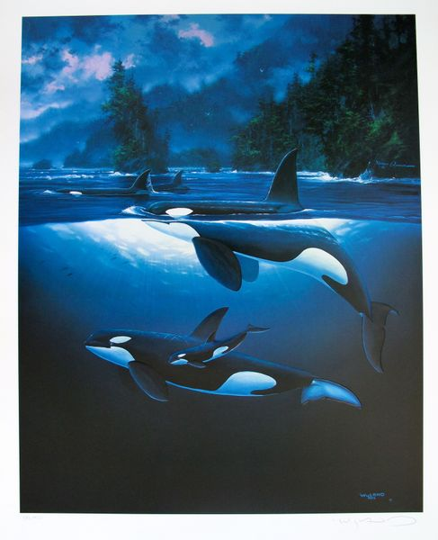 Robert Wyland NORTHERN WATERS Limited Ed. Hand Signed Embossed Serigraph