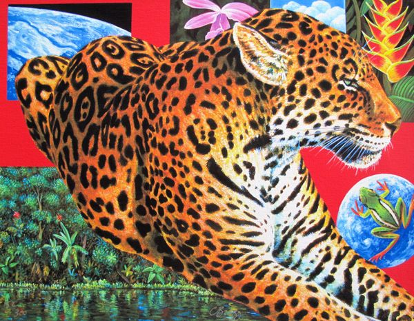 Charles Lynn Bragg LEOPARD PARADISE Hand Signed Limited Ed. Giclee