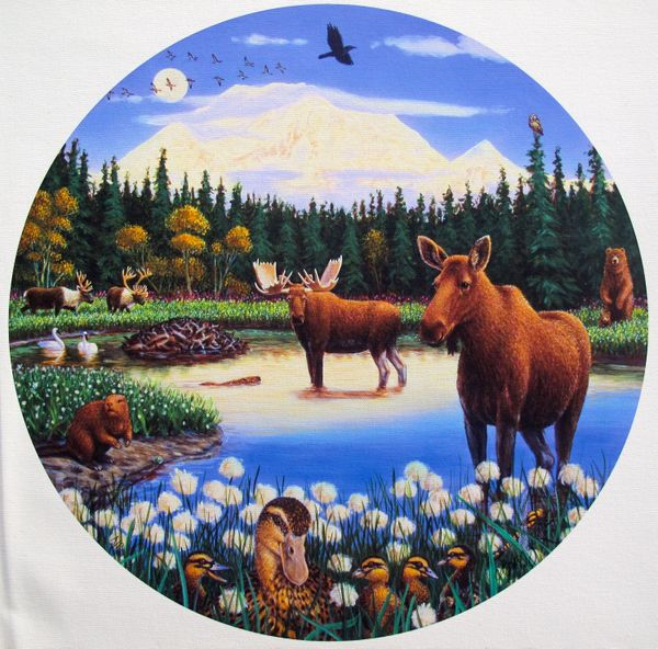 Charles Lynn Bragg MOONLIGHTING AT MT. DENALI Hand Signed Limited Ed. Giclee