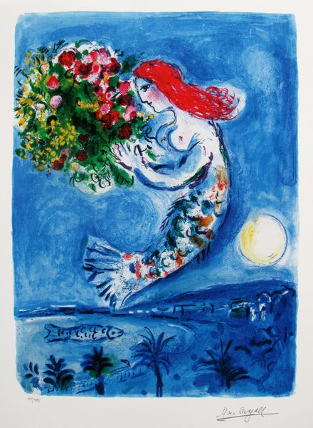Marc Chagall BAY OF ANGELS Limited Edition Facsimile Signed Giclee