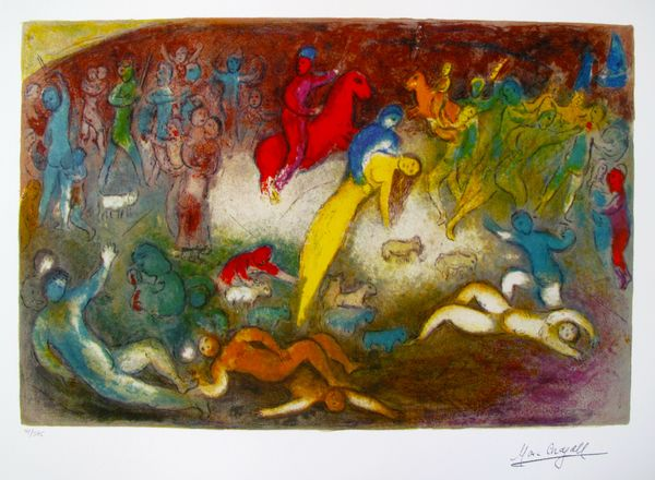 Marc Chagall CHLOE IS CARRIED OFF Limited Edition Facsimile Signed Giclee