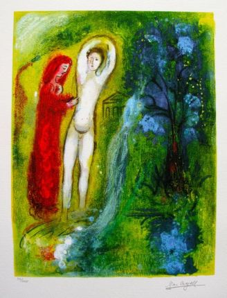 Marc Chagall DAPHNIS & CHLOE Limited Edition Facsimile Signed Giclee