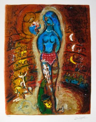 Marc Chagall CIRCUS I Limited Edition Facsimile Signed Giclee