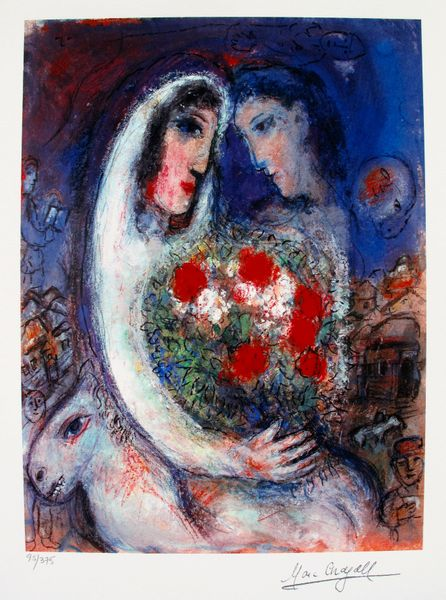 Marc Chagall MARRIAGE Limited Edition Facsimile Signed Small Giclee