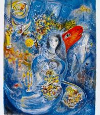 Marc Chagall BELLA Limited Edition Facsimile Signed Giclee