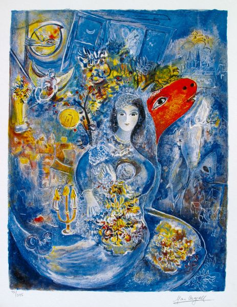 Marc Chagall BELLA Limited Edition Facsimile Signed Small Giclee