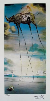 Salvador Dali CELESTIAL RIDE Facsimile Signed & Numbered Giclee