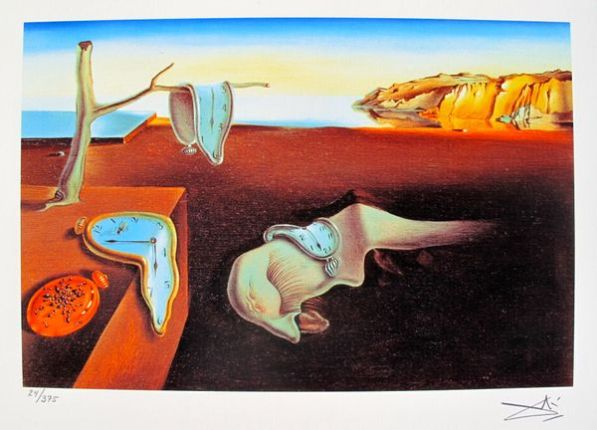 Salvador Dali PERSISTENCE OF MEMORY Facsimile Signed & Numbered Giclee