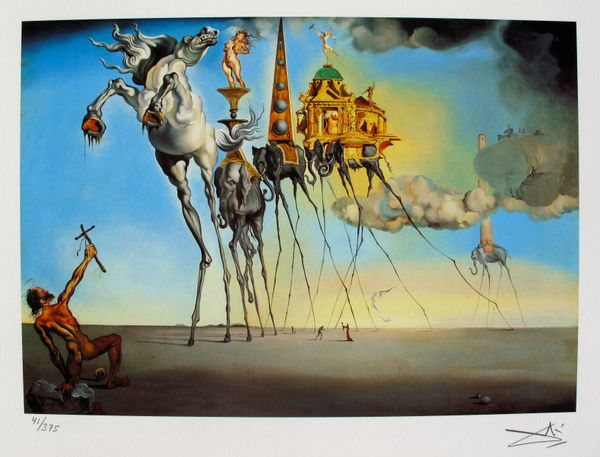 Salvador Dali THE TEMPTATION OF ST. ANTHONY Facsimile Signed & Numbered Giclee