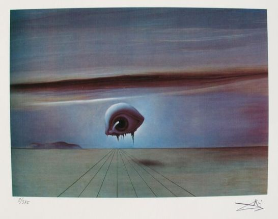 Salvador Dali THE EYE Facsimile Signed & Numbered Giclee