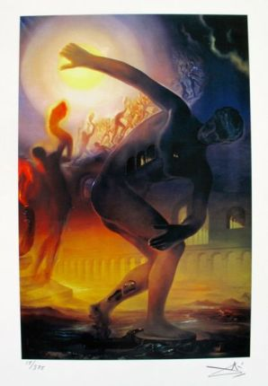 Salvador Dali COSMIC ATHLETE Facsimile Signed & Numbered Giclee