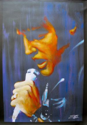 "STEPHEN FISHWICK ""I DREAM"" ELVIS PRESLEY Hand Signed Large Limited Ed. Giclee on Canvas"