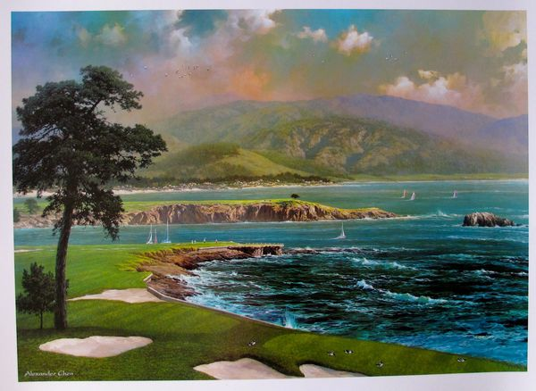"ALEXANDER CHEN ""ON A CLEAR DAY"" OCEAN Lithograph"