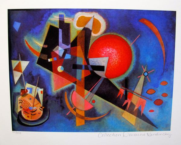 Wassily Kandinsky IN BLUE Estate Signed Limited Edition Small Size Giclee