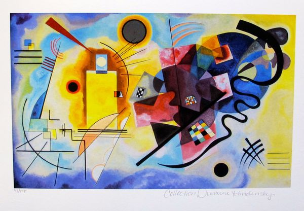 Wassily Kandinsky YELLOW, RED & BLUE Estate Signed Small Limited Edition Giclee