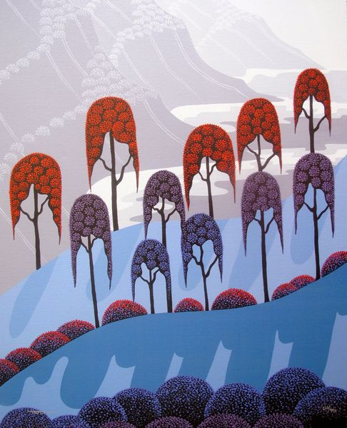 LARISSA HOLT ALTERED PERCEPTIONS Hand Signed Giclee Canvas EYVIND EARLE PROTEGE