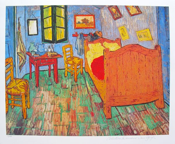 Vincent Van Gogh VAN GOGH'S BEDROOM Estate Signed Giclee
